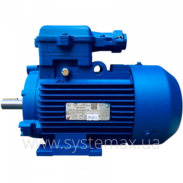 Вибухозахищений електродвигун 4ВР 80 А2 (1,5 кВт 3000 об/хв) - фото 2