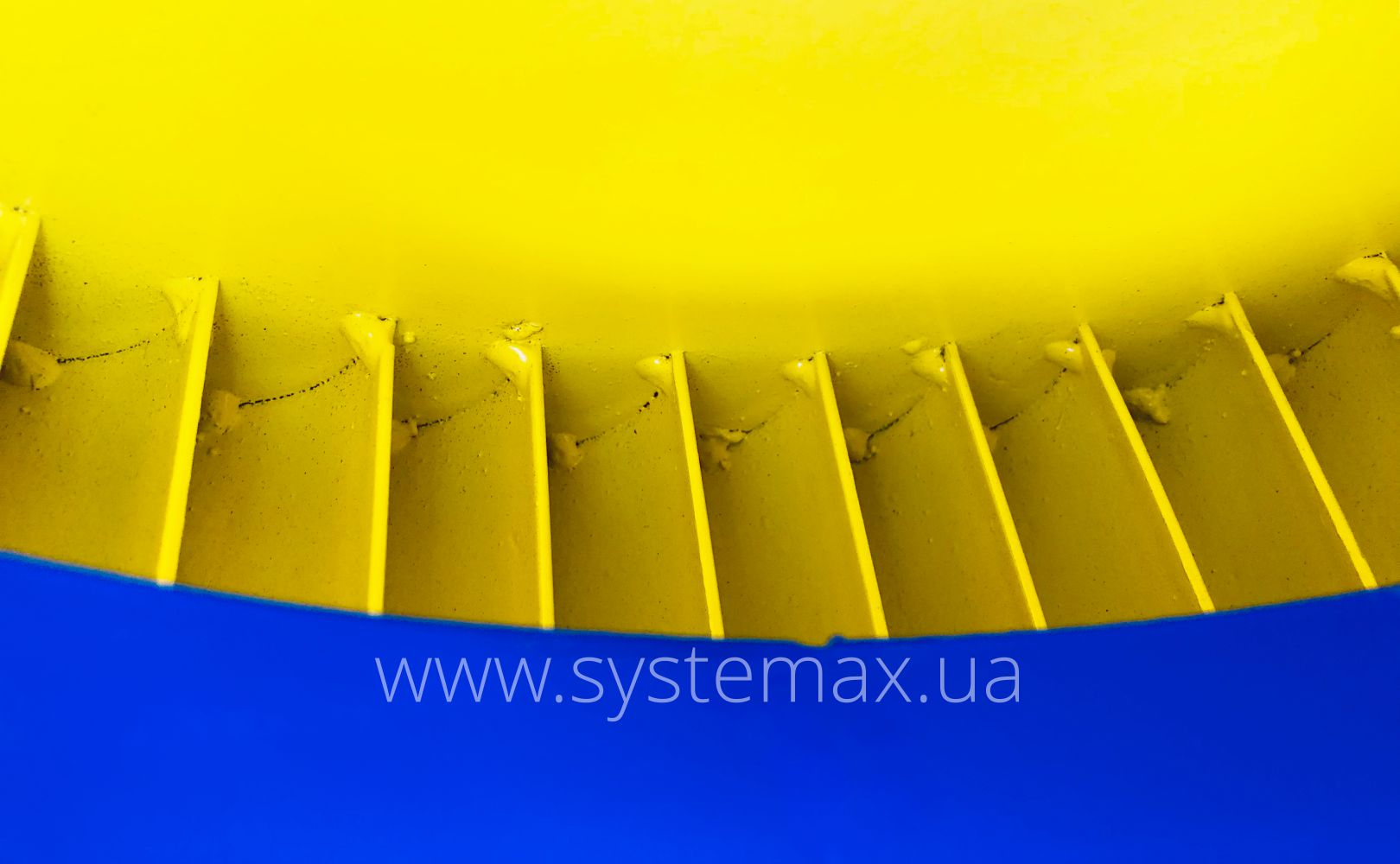 Фото лопаток робочого колеса центробіжного вентилятора ВЦ 10-28-3,15