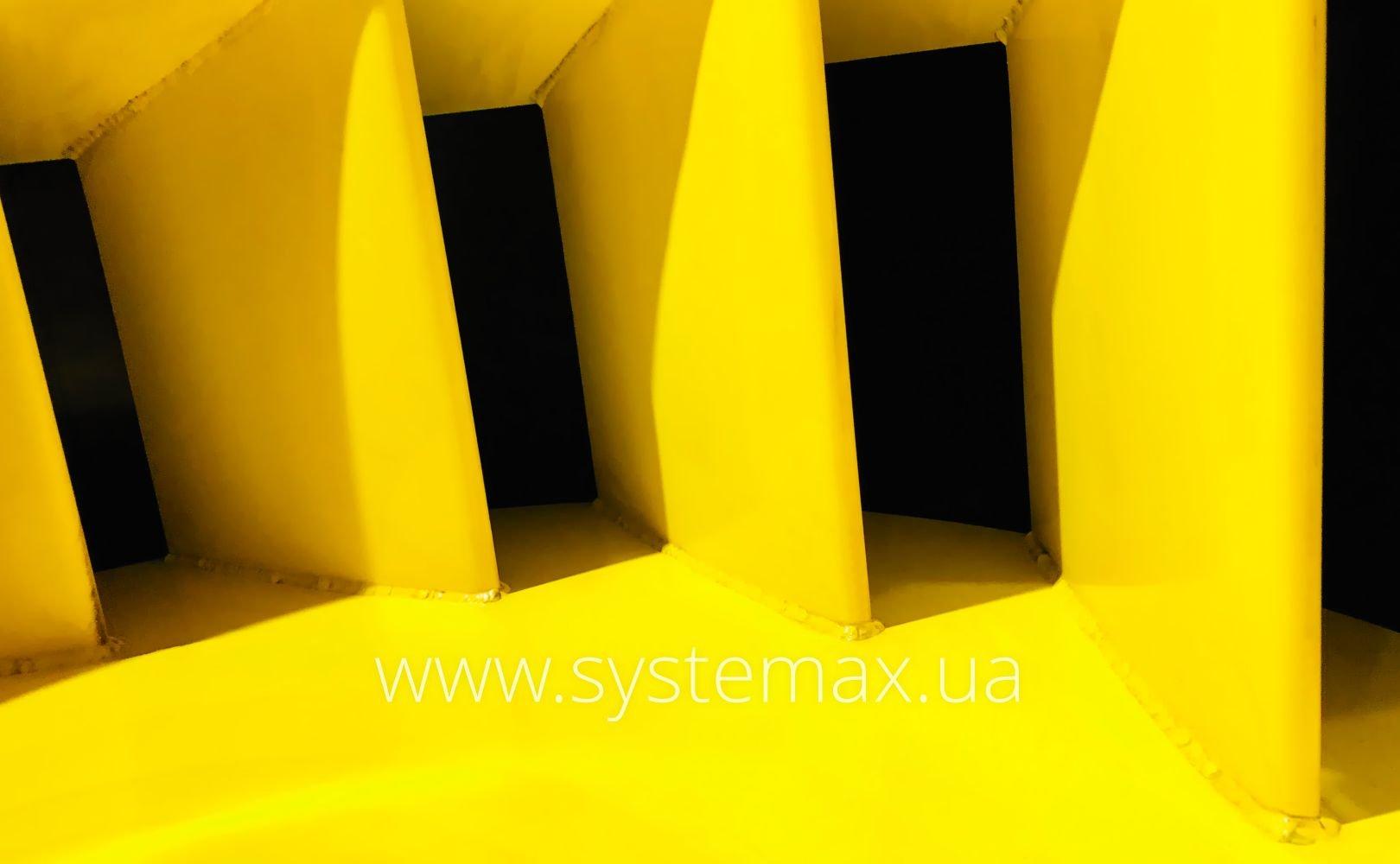 Фото лопаток робочого колеса центробіжного вентилятора ВЦ 4-76-10