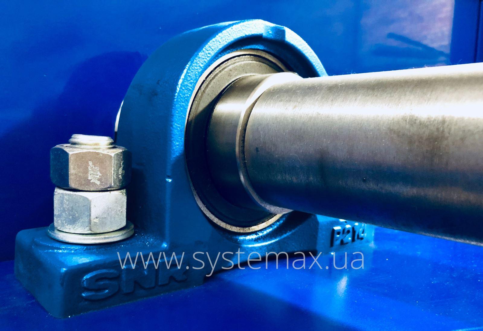 Промежуточный вал вентилятора ВРП-3,15 схема 5 на подшипниковых узлах SNR