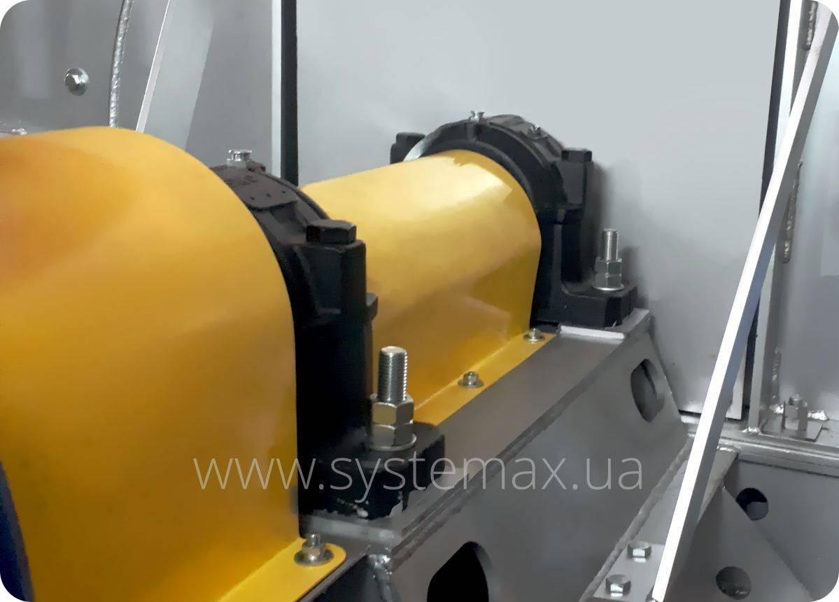 Промежуточный вал дутьевой машины ВДН 22 (схема 3) на подшипниковых узлах SNR