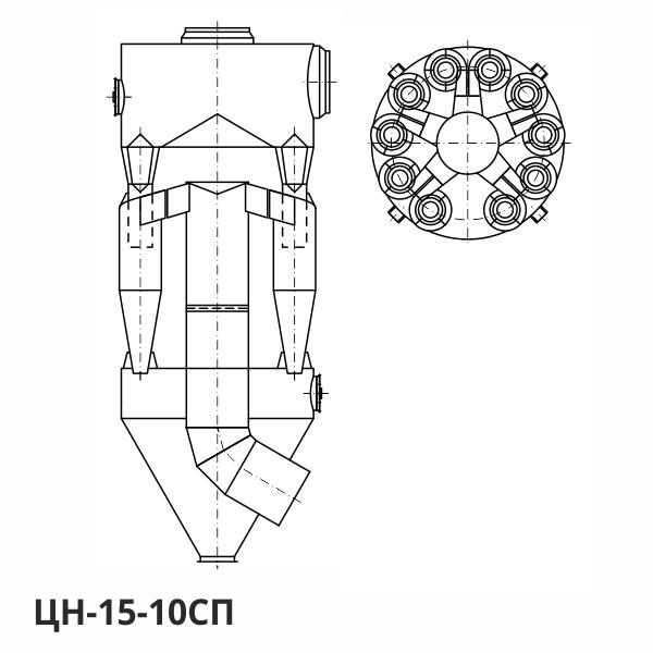 Циклон ЦН-15-10СП: конструктивная схема