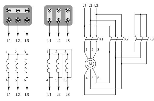 Схемы подключения электродвигателя: звезда, треугольник, комбинированная